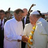 Đức Thánh Cha Phanxicô đến Sri Lanka