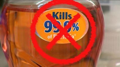 NO anti-bacterial soap