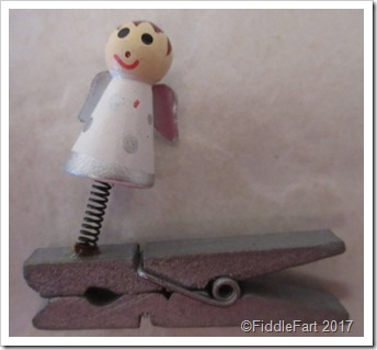 wooden angel decoartion peg