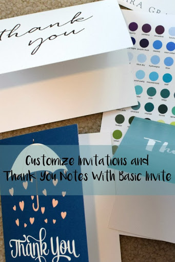 Customize Invitations and Thank You Notes With Basic Invite