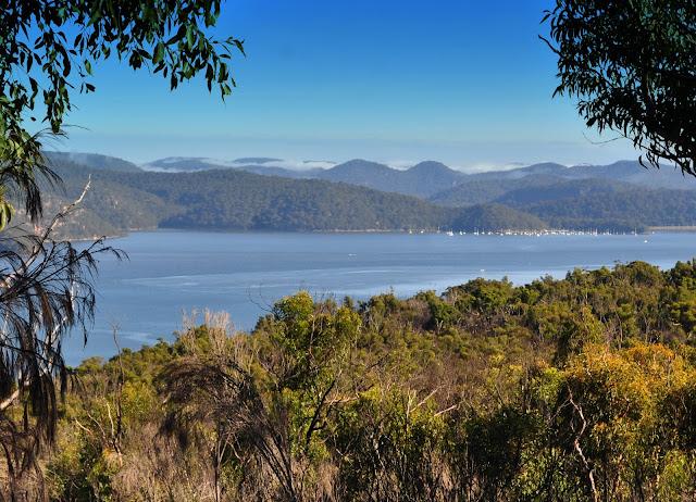 L'estuaire de la Hawkesbury River et la côte très découpée de la Mer de Tasmanie au nord de Sydney. 9 avril 2009. Photo : Barbara Kedzierski