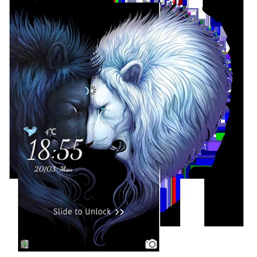 Majestic Lion CM Locker theme