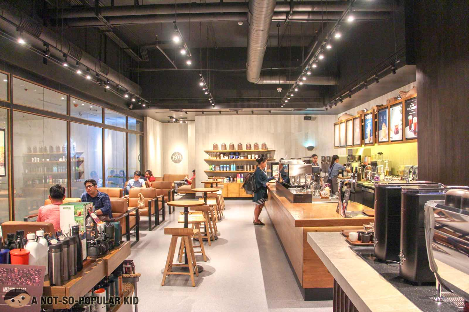 Interior of Starbucks Reserve in Valero, Makati