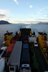 Cargo & View of The Patagonias (Navimag Boat Trip, Chile)