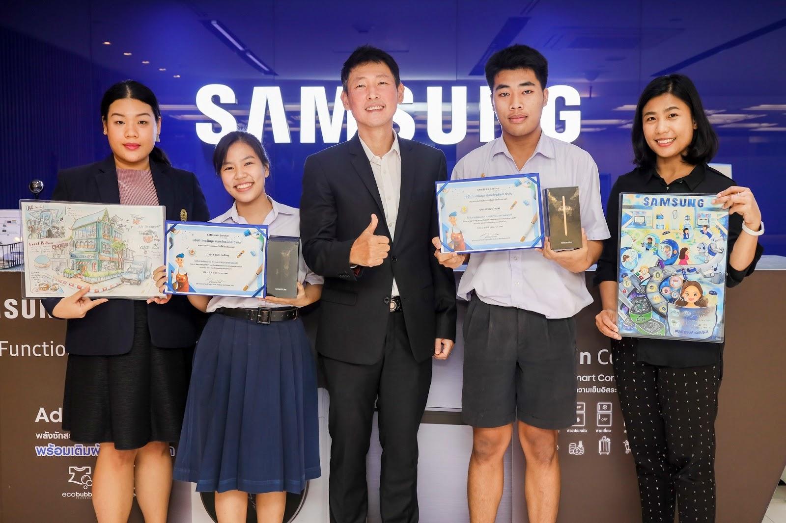 """Samsung เสริมพลังแห่งจินตนาการเยาวชนรุ่นใหม่ในโครงการ """"Samsung Smart Service Idea"""" พัฒนาไอเดียงานบริการผ่านภาพวาด"""