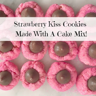 Strawberry Kiss Cookies ~ Made With A Cake Mix!.