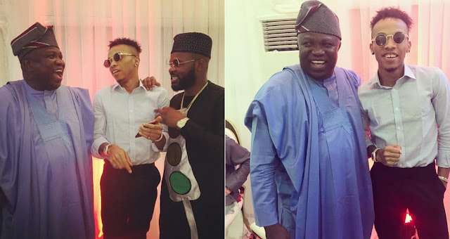Tekno, Falz Crack Up Lagos State Governor Ambode At An Event (Photos)