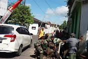Bati Komsos Koramil 03 Serengan Gerakan Warga Gotong Royong Pra KBD Tahap II TA. 2021