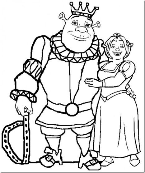 Shrek y Fiona masdibujos
