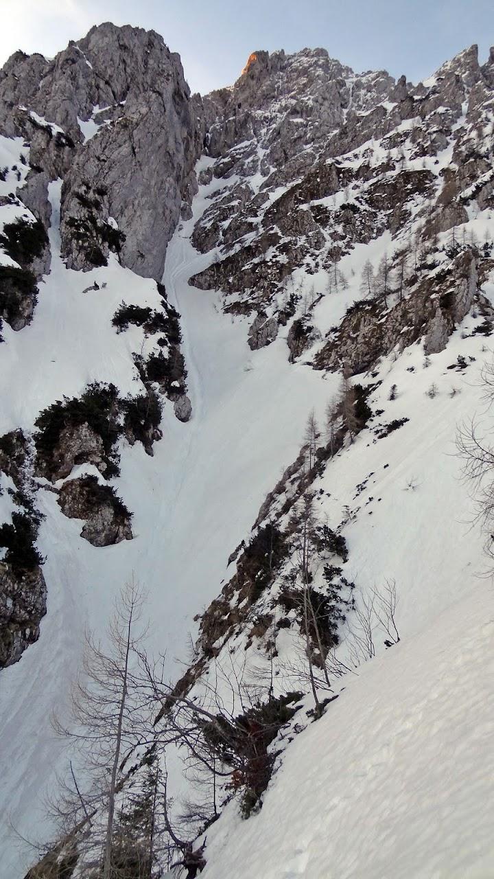 Zimsko ruho sjeverne stijene Storžiča