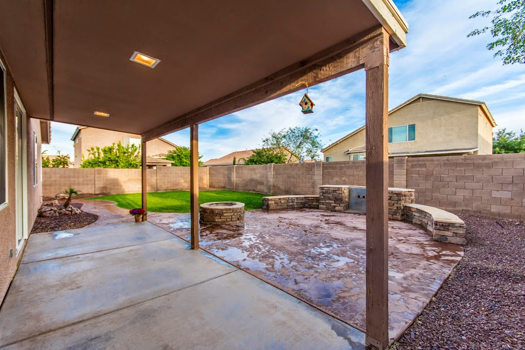 Backyard patio of Phoenix Home for Sale