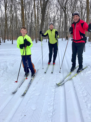 Morning ski with Grandpa and Grandpa!