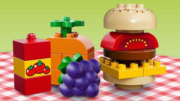 Những chi tiết trong  bộ xếp hình Lego Duplo 10566 Dã ngoại sáng tạo rất an toàn