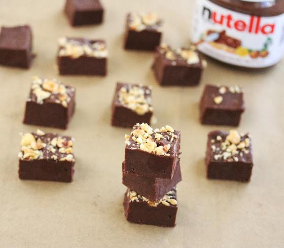 close-up photo of Nutella Fudge