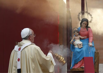 Pope Francis claims Mary ascended into heaven with body and soul