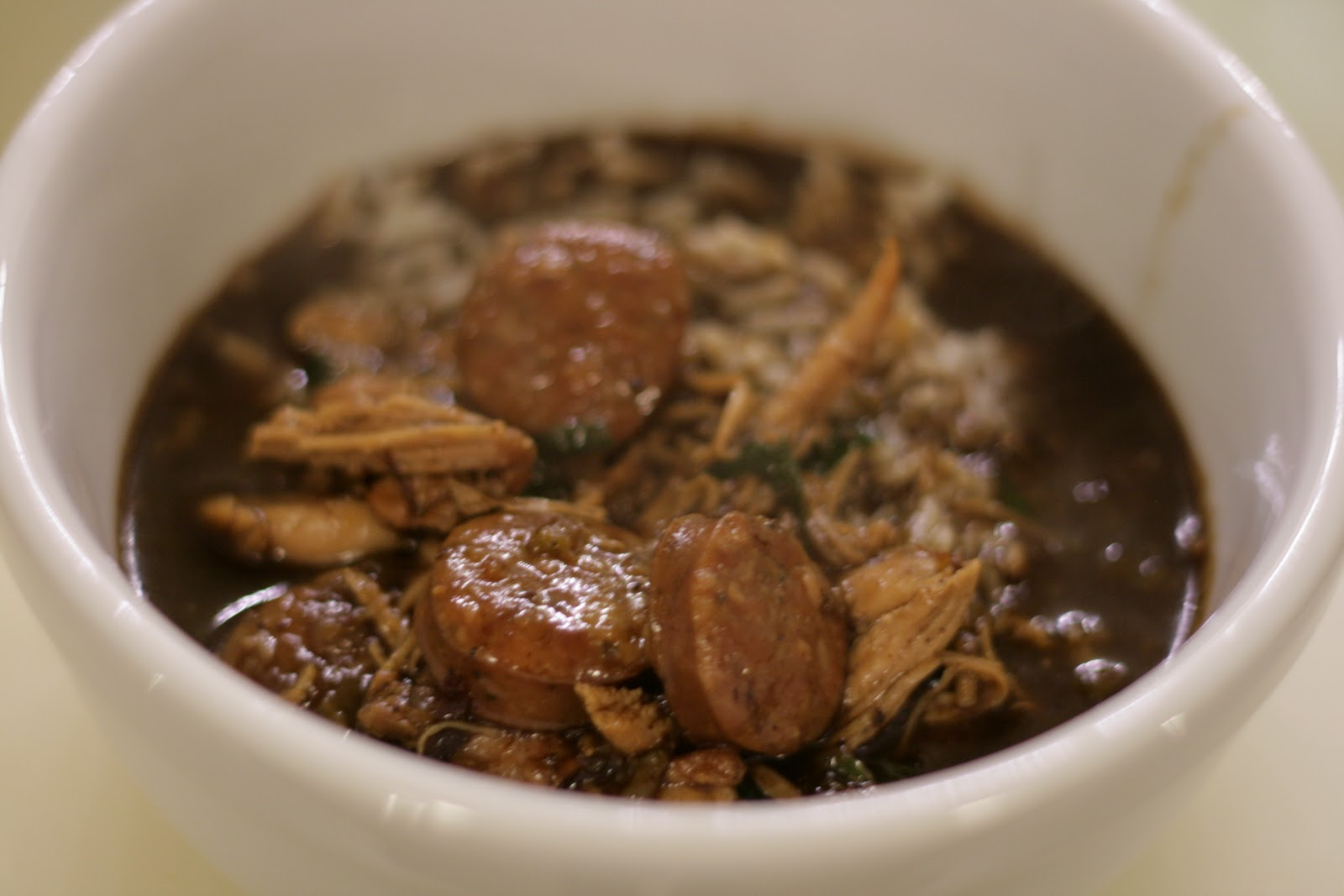 A Bluebonnet in Beantown: Chicken and smoked sausage gumbo