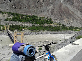 Beautiful view of Hunza river with KKH