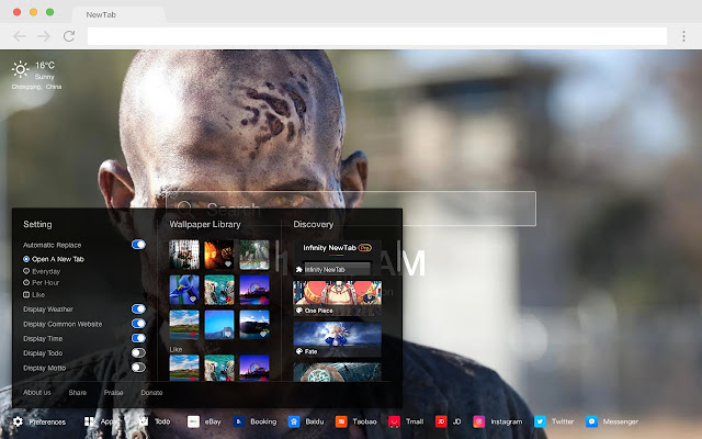 Zombies Pop Movie HD New Tabs Theme