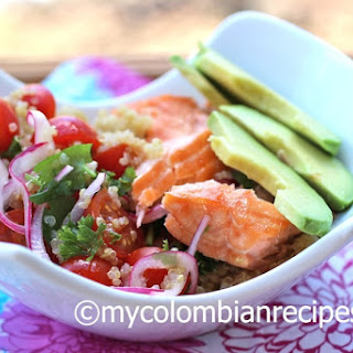 Quinoa, Salmon and Avocado Salad