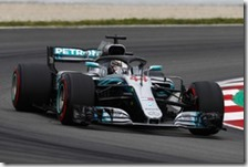 Lewis Hamilton conquista la pole del gran premio di Spagna 2018