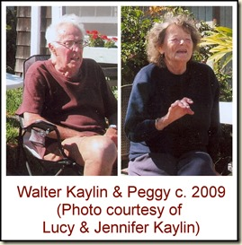 Walter Kaylin and wife Peggy c 2009