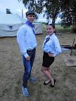 Pilot s letuškou (Elinka si splnila svůj sen, být letuškou, alespoň na táboře 😊 )