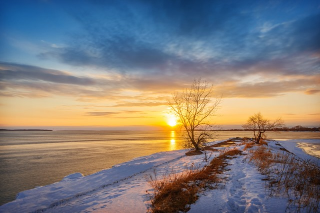 Sunset at Saint Lawrence River