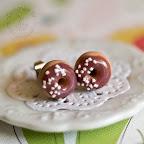 Sprinkle Donut Studs - Chocolate