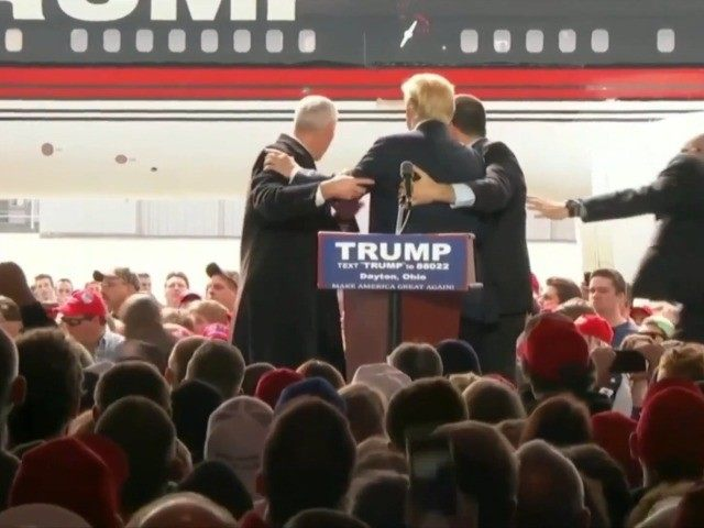 Secret Service rushes to protect Trump from protester; Rubio blames Trump