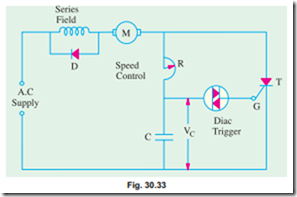 Speed control of d c  Motors:Thyristor Speed Control of Separately