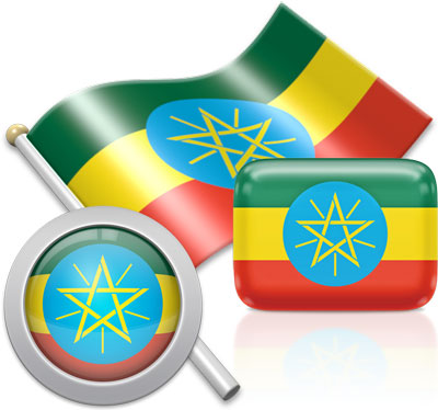 Ethiopian flag icons pictures collection