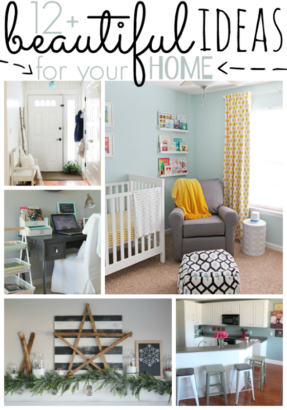 12  Beautiful Ideas for Your Home at GingerSnapCrafts.com #foryourhome #homedecor
