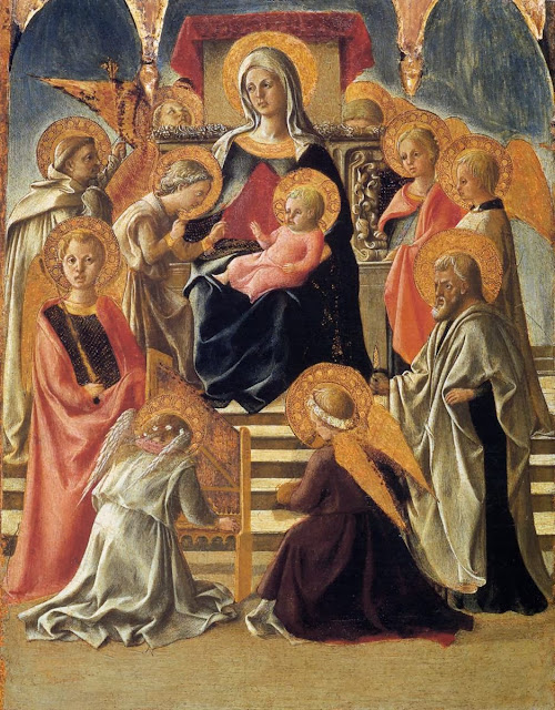 Filippino Lippi - Madonna and Child Enthroned with Saints