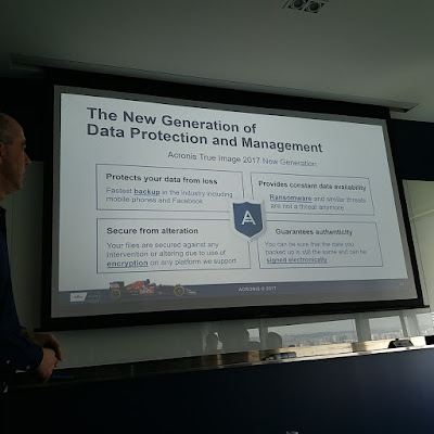 The four key differences that Acronis True Image 2017 Next Generation offers: comprehensive backup, Blockchain baased authentication of integrity, protection from ransomware and secure e-signatures.