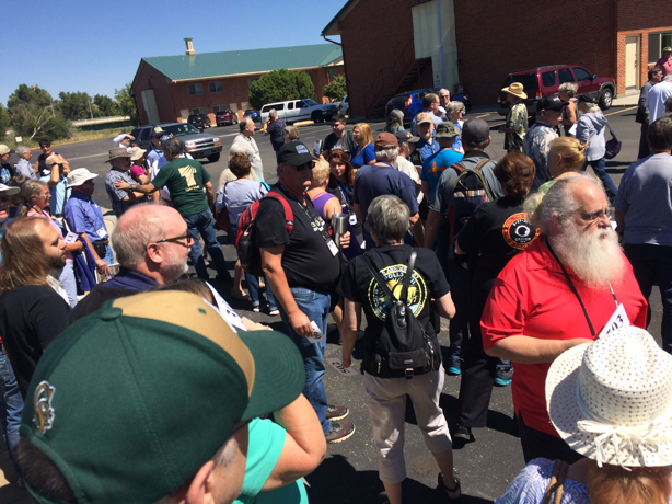 Astrocon attendees start to assemble for group photo