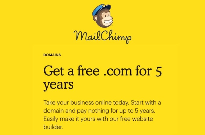 Domains  for 5 years free