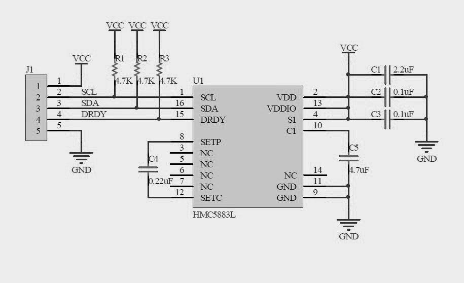 Wiring and Test Adafruit HMC5883L Breakout - Triple