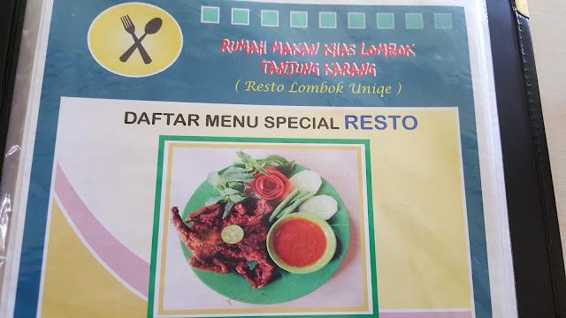 Rumah Makan Khas Lombok Indonesia