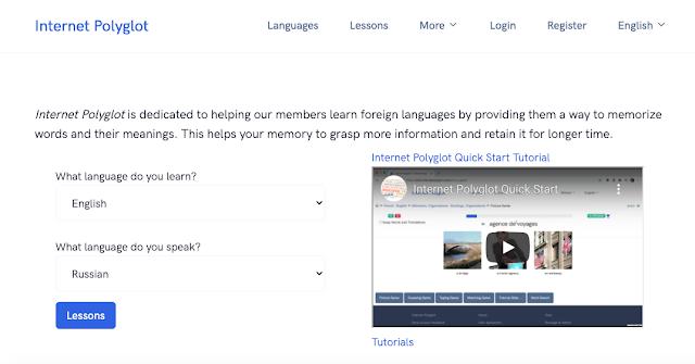 Aulas e jogos para aprender idiomas