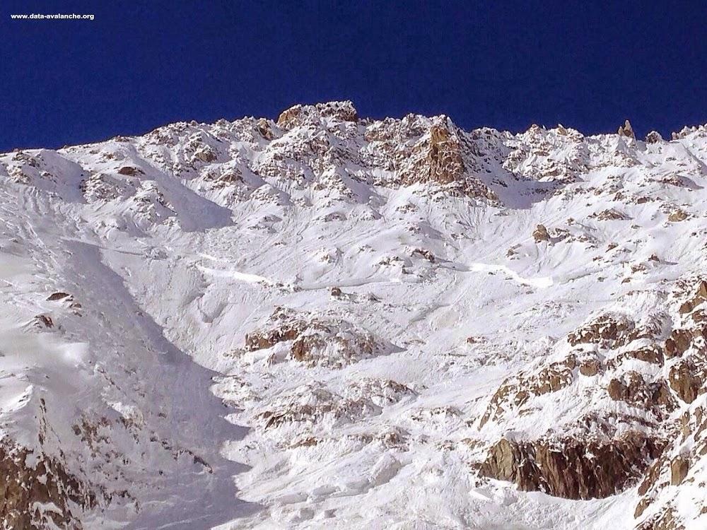 Avalanche Mont Blanc, secteur Aiguilles Marbrées - Photo 1