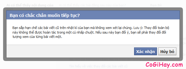 xác nhận giới hạn bài viết cũ facebook