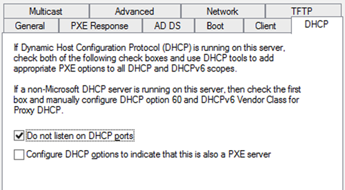 How to configure DHCP for PXE Booting on WDS or SCCM 2012