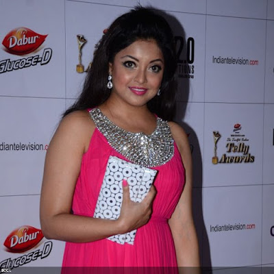 Tanushree Dutta dazzled in pink during the 12th Annual Indian Telly Awards, held in Mumbai.