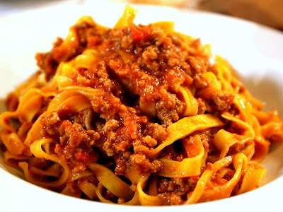 Pasta Bolognese at Eataly in Bologna