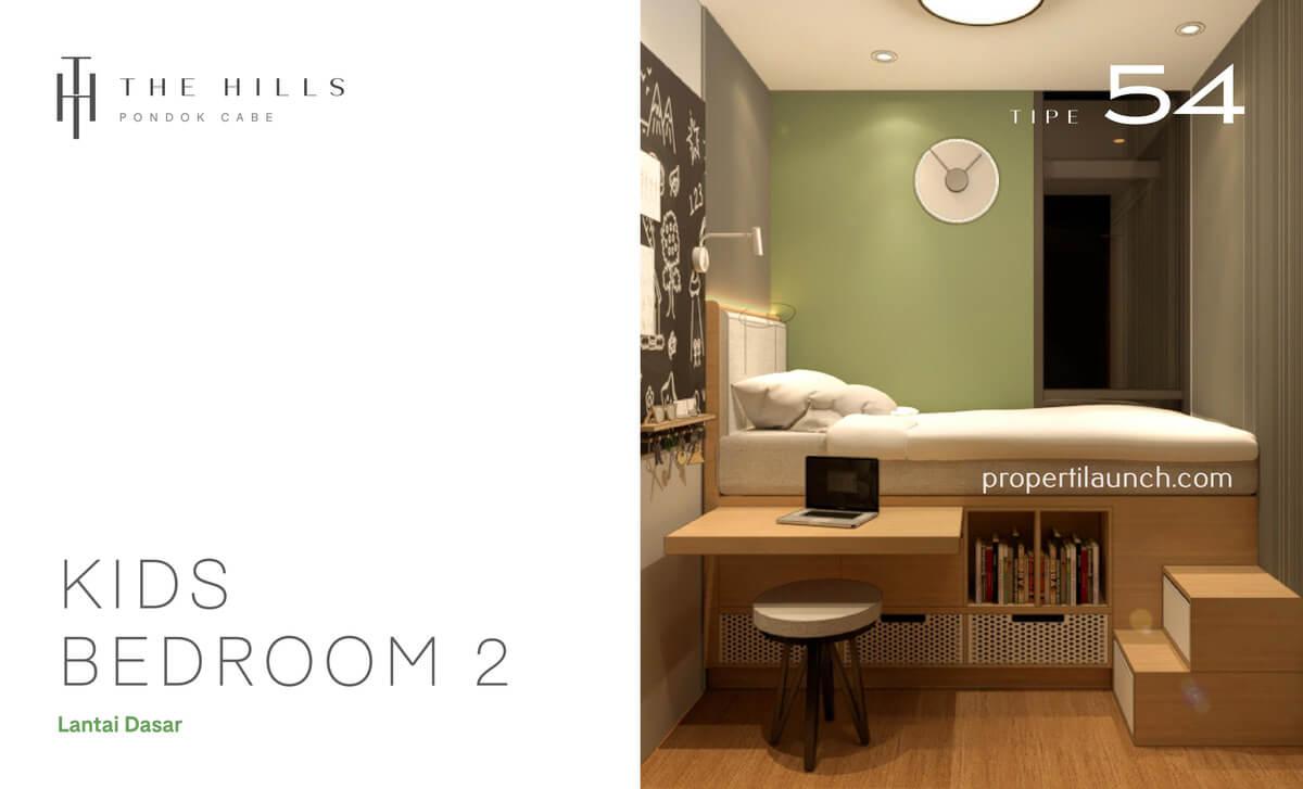 Interior Desain Kamar Tidur Anak Rumah The Hills Pondok Cabe Tipe 54