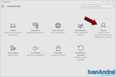 Configuración - Cuenta