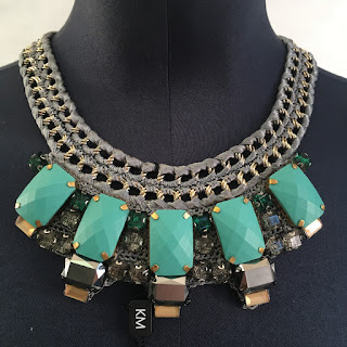 *SALE* Karen Millen NEW Knit Turquoise Necklace