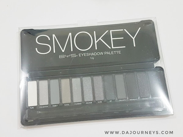 [Review] BYS SMOKEY Eyeshadow Palette, Pressed Banana Powder dan Lipstick