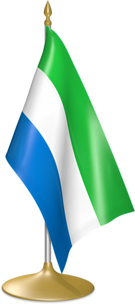Sierra Leonean table flags - desk flags