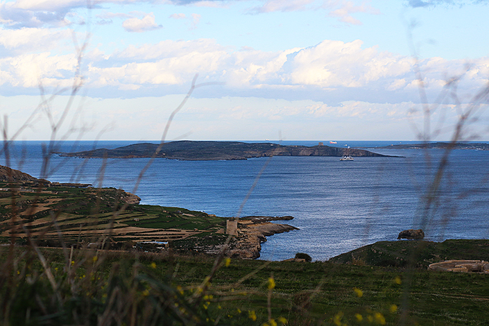 cold january afternoon, malta landscape, Sannat island of Gozo, mediterranean landscapes, pictures of nature